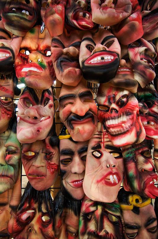 Masks in Flea Market - Reykjavik - Iceland