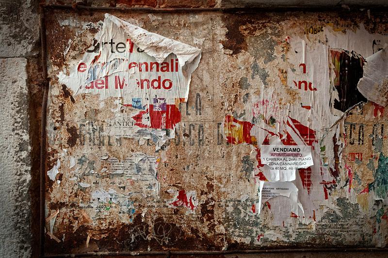 Notice Board - Venice - Italy