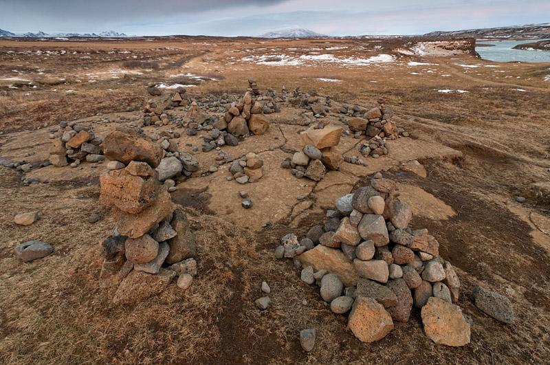 Rock Cairns - Gullfoss - Iceland